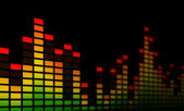 Music Equalizer Bars - Close-up — Stock Photo