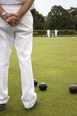 Bowls Green White Trousers — Stock Photo