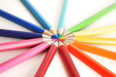Colored Pencil Circle — Stock Photo