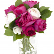 Bouquet of pink and white roses — Stock Photo