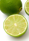Lime isolated on white background — Stock fotografie