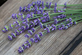Lavender over wood — Stock Photo