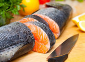 Salmone crudo — Foto Stock