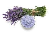 Lavender bath salt — Stock Photo