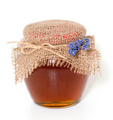 Jar of lavender honey — Stock Photo