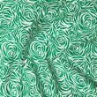 Folds of gren and white cloth — Stock Photo