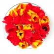 Tulips in glass bowl — Stock Photo #45295389