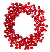 Round pomegranate frame — Stock Photo