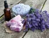 Lavender cosmetics — Stock Photo