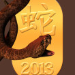 Year of the snake 2013 - Stock Photo