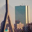 The Leonard P. Zakim Bunker Hill Memorial Bridge - Foto de Stock