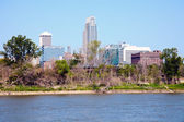 Omaha and the river — Stock Photo