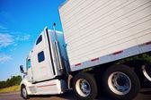 Semi truck in motion — Stock Photo
