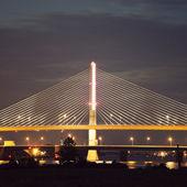 Veterans' Glass City Skyway Bridge in Toledo — Stock Photo