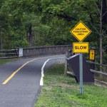 Caution - Pedestrian area — Stock Photo #13437866