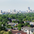 Stock Photo: Distant view of downtown Milwuakee