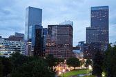 Rainy evening in Denver — Stock Photo