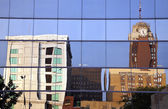 Lansing downtown reflected — Stock Photo