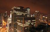 Chicago from Michigan Avenue building — Stock Photo