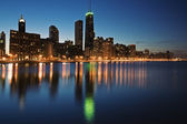 Blue evening in Chicago — Stock Photo