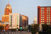 Lansing, Michigan at sunrise — Stock Photo