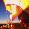 Stock Photo: Hot Air Balloon Fiestin Albuquerque, New Mexico