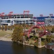 LP Field in downtown of Nashville — Foto Stock