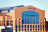 Lucas Oil Stadium in downtown of Indianapolis — Foto de Stock