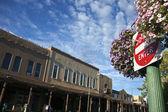 Don't enter sign in teh center of Santa Fe — Stockfoto