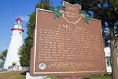 Lake Erie Historical Marker — Stock Photo