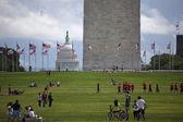 Visitar a área do monumento de washington — Foto Stock