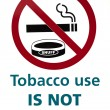 Tobacco use is not permitted — Foto Stock