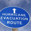 Hurricane evacuation route sign — Stock Photo