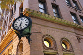 Clock in downtown of Norfolk — Stock Photo