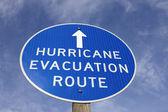 Hurricane evacuation route sign — Stock Photo