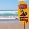 Danger - no swimming — Stock Photo