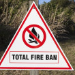 Stock Photo: Total Fire Ban