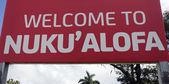 Welcome to Nuku'alofa — Stock Photo