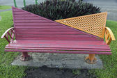 Bench in the park - Suva, Fiji — Stock Photo