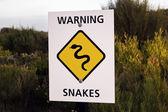 Cobra o sinal de aviso — Fotografia Stock
