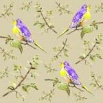 Seamless background. Illustration of birds. — Stock Vector #14400123