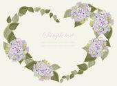 Dekoratif bir kalp. elle çizilmiş sevgililer günü tebrik kartı. illus — Stok Vektör