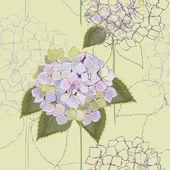 无缝背景。绣球花. — 图库矢量图片