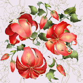Seamless background from a flowers ornament, fashionable modern — Stok Vektör