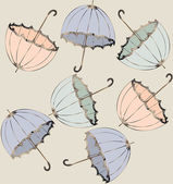 Illustration of vintage umbrella. Seamless background fashionabl — Stok Vektör