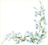 открытка с лилией. лили иллюстрация. декоративные framew — Cтоковый вектор