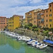 Stok fotoğraf: Snapshot of city of Livorno, on Italicoast