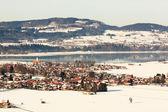 Vista desde el castillo de neuschwanstein — Foto de Stock