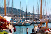 Yachts on the coast of Cannes, France — Stock Photo