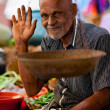 Seller on local market in Sri Lanka - April 2, 2014 — Stock Photo #44526501